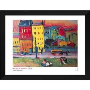 Wassily Kandinsky FRAMED Art 28x36 Houses In Munich