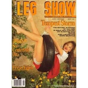 Leg Show Magazine August 1995 Dita Von Tesse: Leg Show: Books
