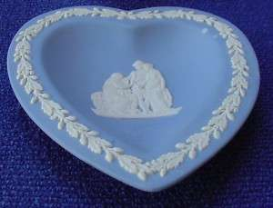 Wedgwood Jasperware Blue Heart Tray Trinket Coriolanus