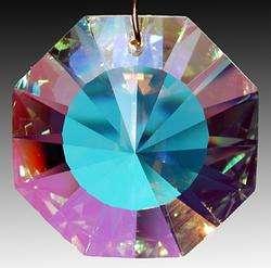 Swarovski 6208 40AB Austrian Crystal Prism Discontinued Vintage Mint