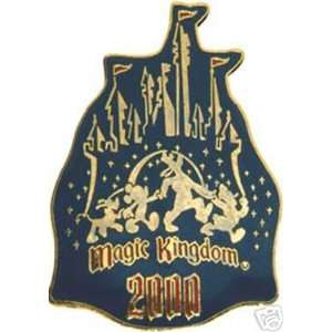 WALT DISNEY WORLD MAGIC KINGDOM BLUE CASTLE DISNEY PIN