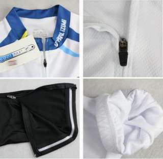 Bike Sports Wear Bicycle Long Sleeve Clothing Set White Jersey + Pants