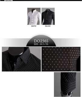 Mens casual dress shirts slim fit Unique design M~XL