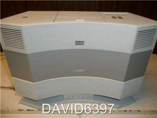 BOSE ACOUSTIC WAVE CD 3000 W/ PEDESTAL PLATINUM WHITE