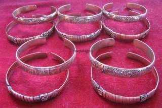 Bn302 Lot of 10 Tibet Om mantra Dragon COPPER bracelet Nepal Free