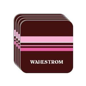 Personal Name Gift   WAHLSTROM Set of 4 Mini Mousepad Coasters (pink