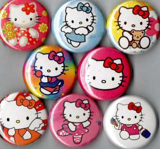 Hello Kitty 8 pins buttons badges sanrio new