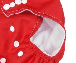 10PCS Reusable Baby Cloth Diaper Nappy + 10 Insert