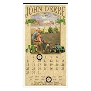 John Deere Tin Calendar Sign *Sale*: Office Products