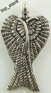 40Pcs Tibetan silver angel wings charms Pendants 30mm