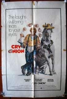 Cry Onion Franco Nero Original Movie Poster 70s