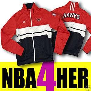 ATLANTA HAWKS WOMENS ON COURT TRACK JACKET NBA NEW L