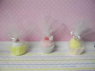 Baby washcloth mini cupcake baby shower favor/decoration boy, girl