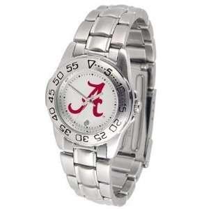 Alabama Crimson Tide Suntime Ladies Sports Watch w/ Steel Band   NCAA