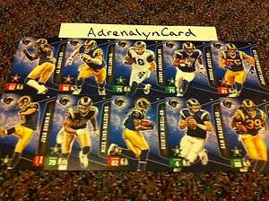 St. Louis Rams NFL Adrenalyn XL Complete Team (Set Special   Extra