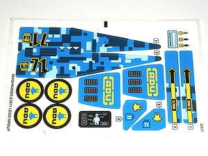 Conquest Earth Defense HQ Blue ADU Stickers Decals for Set 7066