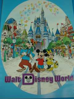Walt Disney World Magic Kingdom Poster Mickey Mouse VTG