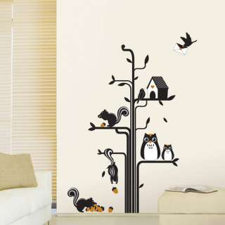 Owl Graphic Tree wall decals vinyl stickers