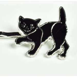 Black Cat Hair Clip Bobby Pins 13 Gothic Punk Rockabilly Lucky Pinup
