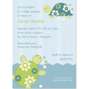 Little Turtles Baby Shower Invitation: Baby