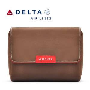 Delta Airlines Amenity Bag Travel first Class Case Toiletry Bag