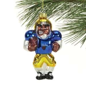 UCLA Bruins Angry Football Player Glass Ornament Sports