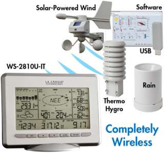 La Crosse Pro Weather Station Solar Rain, Wind WS 2810