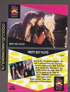 PRETTY BOY FLOYD 1991 Pro Set MUSIC SUPER STARS CARD