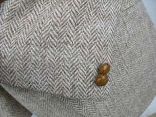 Great Britain Mens HARRIS TWEED Brown Tweed Blazer Jacket 46 R