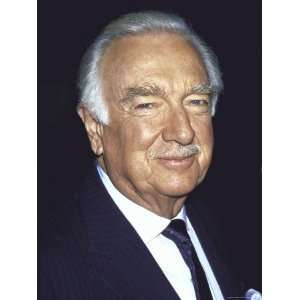 Former Television News Anchor Walter Cronkite Stretched