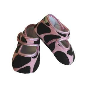 Baby Bella Maya, Ginny Giraffe Baby Booties, Pink/Brown, 6
