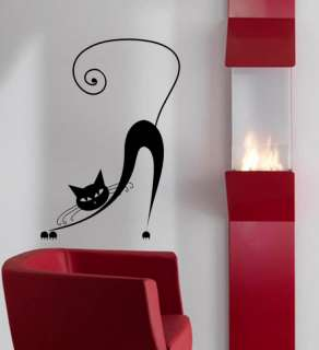 Cute Kitty Cat Kid Room Decor Wall Mural Vinyl Decal 6