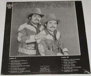 CARLOS Y JOSE   AMARGO RECUERDO   SEALED LP norteño