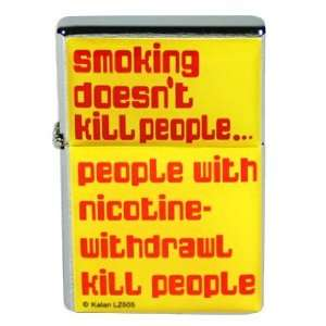 Smoking Doesnt Kill People Flip Top Lighter: Sports