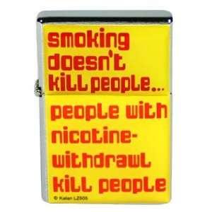 Smoking Doesnt Kill People Flip Top Lighter: Sports
