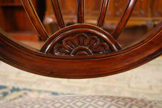 Description Top quality, hand carved solid mahogany shield chairs