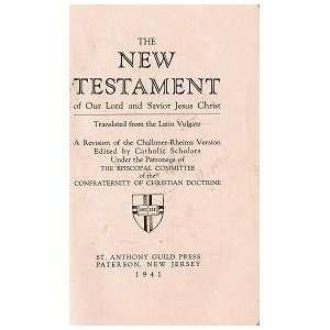 Rheims Version): Confraternity of Christian Doctrine: Books