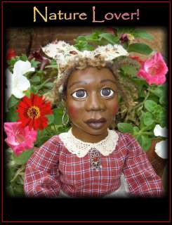 , Primitive Folk Art Doll, By Rochelle, Black Americana Mammy
