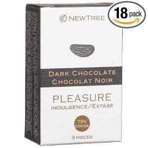 NEWTREE Pleasure 73% Cocoa, Pure Dark Chocolate (3 Piece), 0.95 Ounce
