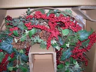 Operated Prelit Mistletoe Ivy Berry Wreath Valerie Parr Hill
