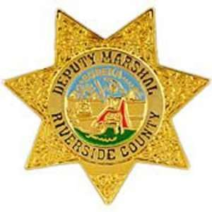 Riverside County Deputy Marshal Badge Pin 1 Arts, Crafts