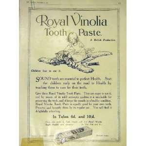 Royal Vinolia Tooth Paste Child Tiger Skin Print 1915