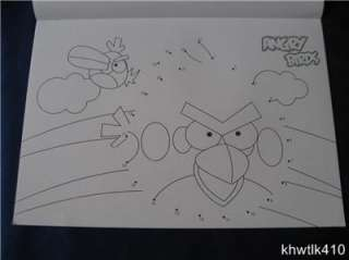 A4 Pictures of Angry Birds Coloring Book and Dot to Dot Series 2