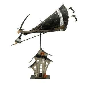 Flying Broom Witch Statuary: Home & Kitchen