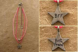 Lot Of 5 Pcs best Friend & Bff Pink Ankle Bracelets