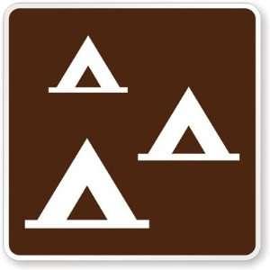 Group Camping symbol High Intensity Grade, 30 x 30