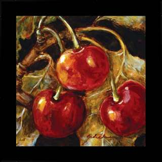Cherry Modern Kitchen Decor Nicole Etienne Art Framed
