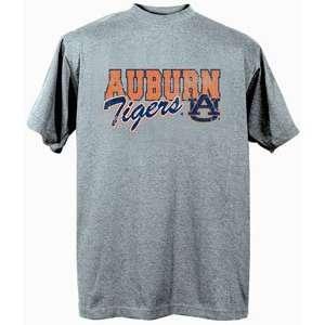Auburn University Tigers AU NCAA Dark Ash Short Sleeve T Shirt Large
