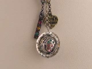 Love Green Globe Pendant Multi Crystal Necklace s0195