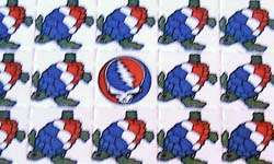 LSD Blotter Art Sheet   Terrapins 420   The Grateful Dead